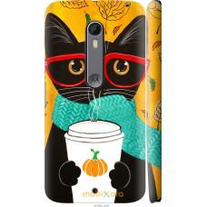 Чехол на Motorola Moto X Style Осенний кот