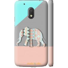 Чехол на Motorola Moto G4 Play Узорчатый слон