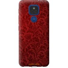 Чехол на Motorola E7 Plus Чехол цвета бордо