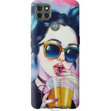 Чехол на Motorola G9 Power Арт-девушка в очках