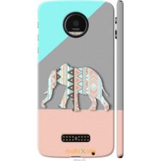 Чехол на Motorola MOTO Z Узорчатый слон