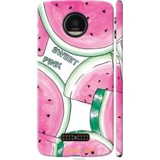 Чехол на Motorola MOTO Z Розовый арбузик