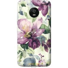 Чехол на Motorola Moto G5 Акварель цветы