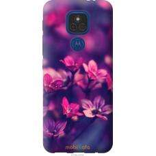 Чехол на Motorola E7 Plus Пурпурные цветы