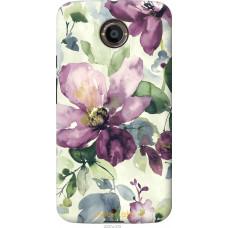 Чехол на Motorola Moto X2 Акварель цветы
