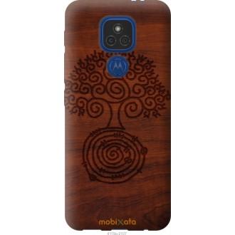Чехол на Motorola E7 Plus Узор дерева