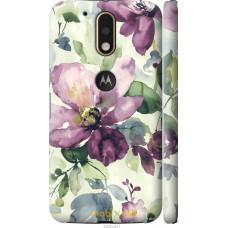 Чехол на Motorola MOTO G4 Акварель цветы