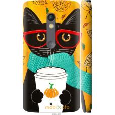 Чехол на Motorola Moto X Play Осенний кот