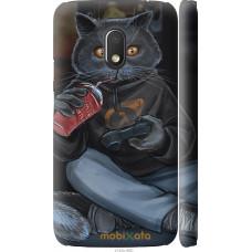 Чехол на Motorola Moto G4 Play gamer cat