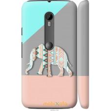 Чехол на Motorola Moto G3 Узорчатый слон