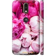 Чехол на Motorola MOTO G4 Розовые цветы
