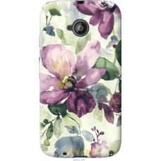 Чехол на Motorola Moto E2 Акварель цветы