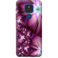 Чехол на Motorola E7 Plus Цветочная мозаика