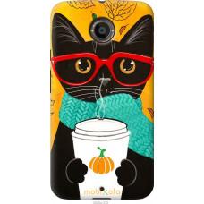 Чехол на Motorola Moto X2 Осенний кот