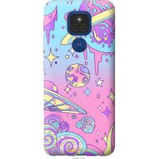 Чехол на Motorola E7 Plus Розовая галактика