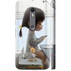 Чехол на Motorola Moto X Style Милая девочка с зайчиком