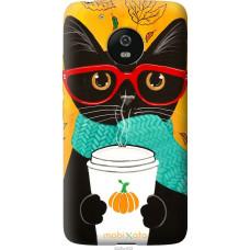 Чехол на Motorola Moto G5 Осенний кот