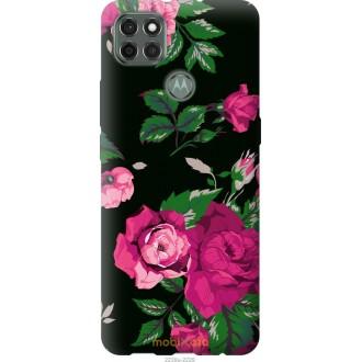 Чехол на Motorola G9 Power Розы на черном фоне