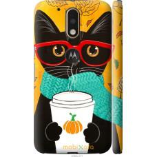 Чехол на Motorola MOTO G4 Осенний кот