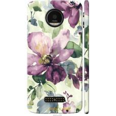 Чехол на Motorola MOTO Z Акварель цветы
