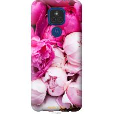 Чехол на Motorola E7 Plus Розовые пионы