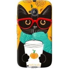 Чехол на Motorola Moto E2 Осенний кот