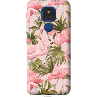 Чехол на Motorola E7 Plus фламинго 2