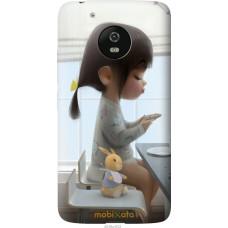 Чехол на Motorola Moto G5 Милая девочка с зайчиком