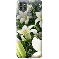 Чехол на Motorola G9 Power Белые лилии
