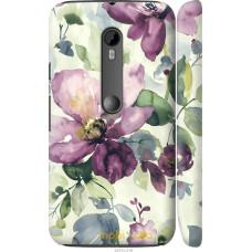 Чехол на Motorola Moto G3 Акварель цветы