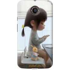 Чехол на Motorola Moto X2 Милая девочка с зайчиком