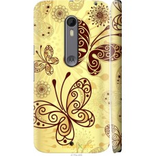 Чехол на Motorola Moto X Style Рисованные бабочки