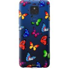 Чехол на Motorola E7 Plus Красочные мотыльки