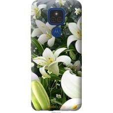 Чехол на Motorola E7 Plus Белые лилии