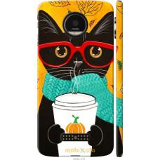 Чехол на Motorola MOTO Z Осенний кот
