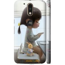 Чехол на Motorola MOTO G4 PLUS Милая девочка с зайчиком