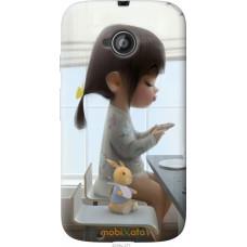 Чехол на Motorola Moto E2 Милая девочка с зайчиком
