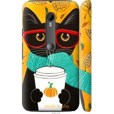 Чехол на Motorola Moto G3 Осенний кот