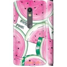 Чехол на Motorola Moto X Play Розовый арбузик