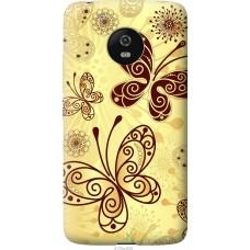 Чехол на Motorola Moto G5 Рисованные бабочки