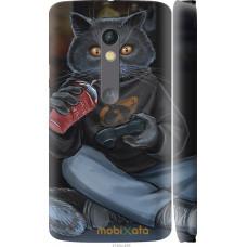Чехол на Motorola Moto X Play gamer cat