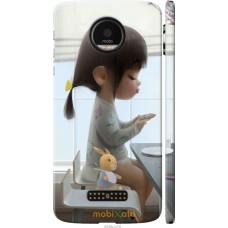 Чехол на Motorola MOTO Z Милая девочка с зайчиком