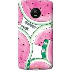 Чехол на Motorola Moto G5 Розовый арбузик