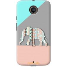 Чехол на Motorola Moto X2 Узорчатый слон