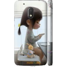 Чехол на Motorola Moto G4 Play Милая девочка с зайчиком