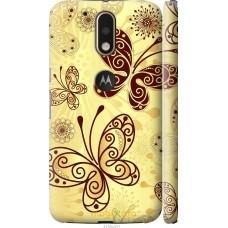 Чехол на Motorola MOTO G4 PLUS Рисованные бабочки