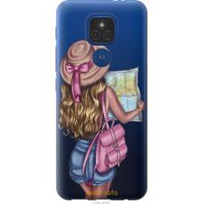 Чехол на Motorola E7 Plus Девушка с картой