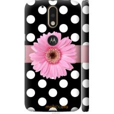 Чехол на Motorola MOTO G4 PLUS Цветочек горошек v2