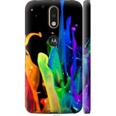 Чехол на Motorola MOTO G4 брызги краски