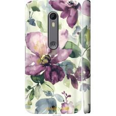 Чехол на Motorola Moto X Style Акварель цветы